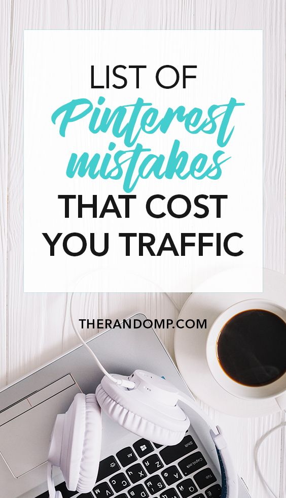 Do you feel like your Pinterest strategy is not working? Make sure you're not making any of these Pinterest mistakes! Pinterest is a great way to grow your traffic but you have to understand how it works before you can expect to get more blog visitors: https://www.therandomp.com/blog/pinterest-mistakes/