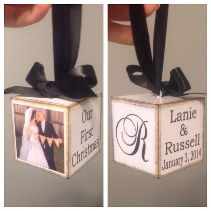 Our First Christmas Married Ornament!                                                                                                                                                                                 More