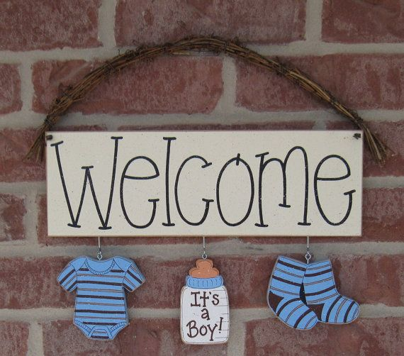 WELCOME ITS A BOY Decorations no sign included for by lisabees, $14.95