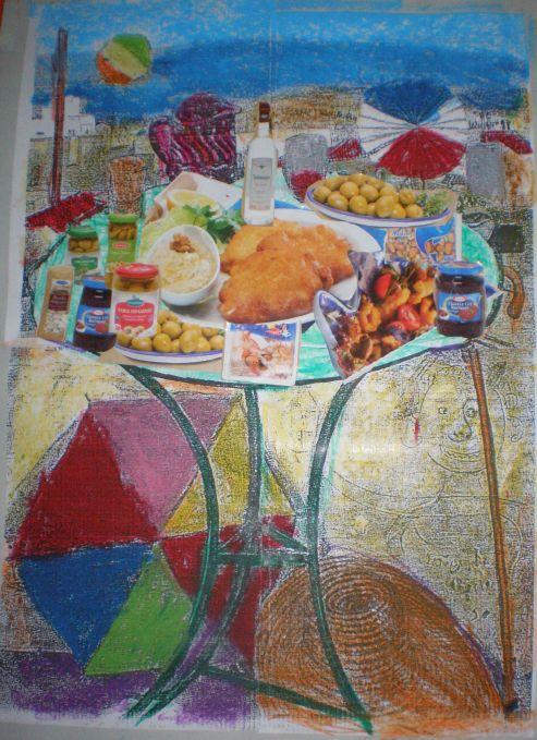 παιχνιδοκαμώματα στου νηπ/γειου τα δρώμενα: Το τραπέζι της Καθαρής Δευτέρας .......... παζλ !!!