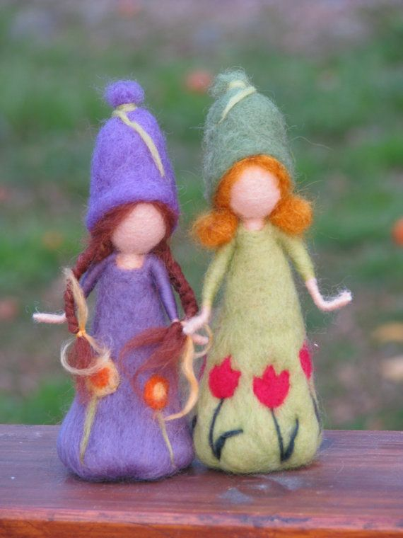Muñeca inspirada aguja fieltro primavera las por Made4uByMagic