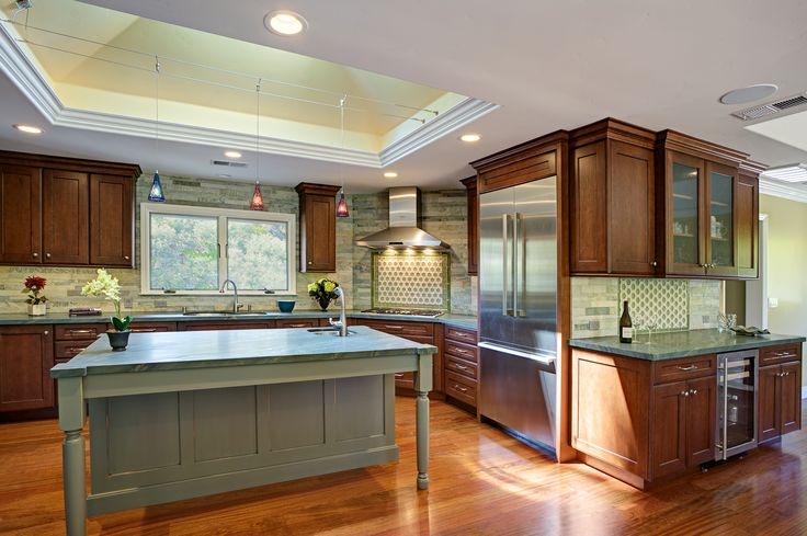 Transitional #KitchenDesigns By San Francisco Bay Area Interior Designer  #SpacesByJuliana · Green KitchenInterior Design ...