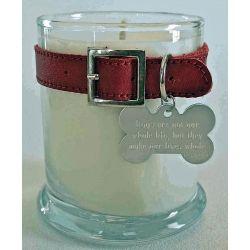 memorial candle. Aw :( cute idea