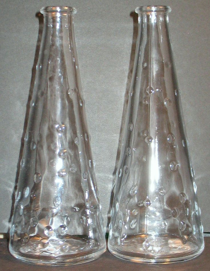 New Pair Ikea Bubble Glass Bud Vases Cruets Contemporary Design by Emma Dafnas