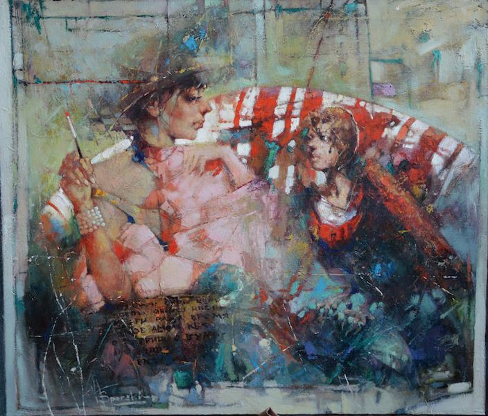 "Waclaw Sporski ""Imaginarium"" 85x100 Oil On Canvas sporskiart.com"