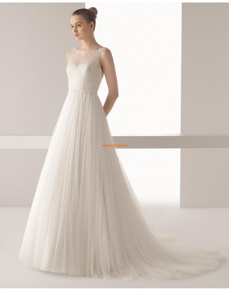 Áčkový střih Svatební šaty s bolerkem Bez rukávů Svatební šaty 2015