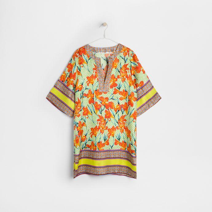 Bild 4 des Produktes Tunika aus Seide mit Blumenprint