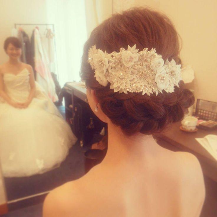 #ヘア#ヘアアレンジ#ヘアセット#ヘアスタイル#トリートドレッシング #ウェディングドレス#ヘッドドレス #ボンネ#ブライダル#結婚式#プレ花嫁 #weddingphotography #wedding #weddingdress #bridal#hair#hairstyle #hairdo #二次会#花嫁