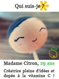 Madame Citron fabrique des cake toppers