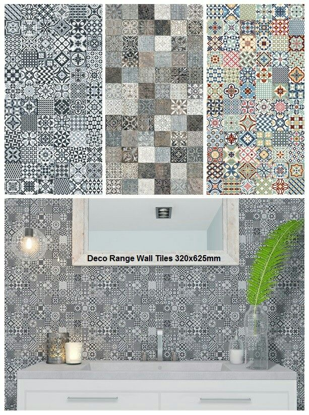 Large format tiles reduce grout but these still look like small patterned tiles.