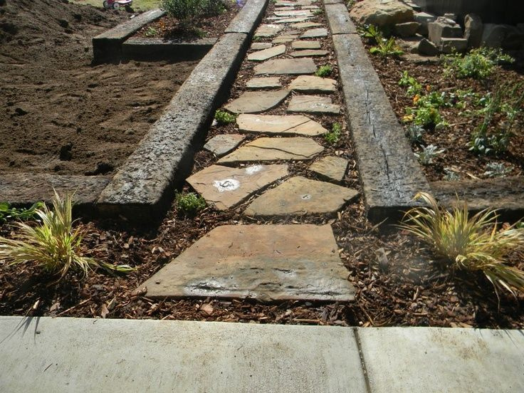 backyard ideas with railroad ties | 1000+ ideas about Railroad Ties Landscaping on Pinterest | Railroad ...