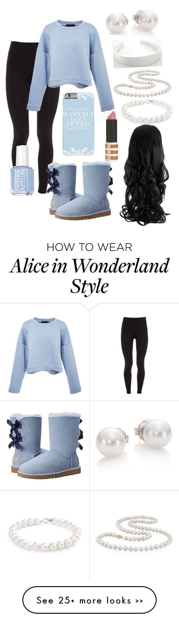 """Winter wonderland"" by genova-was-here on Polyvore featuring Elie Tahari, UGG Australia, TIBI, Mikimoto, Topshop, Bling Jewelry, Miadora and Essie"