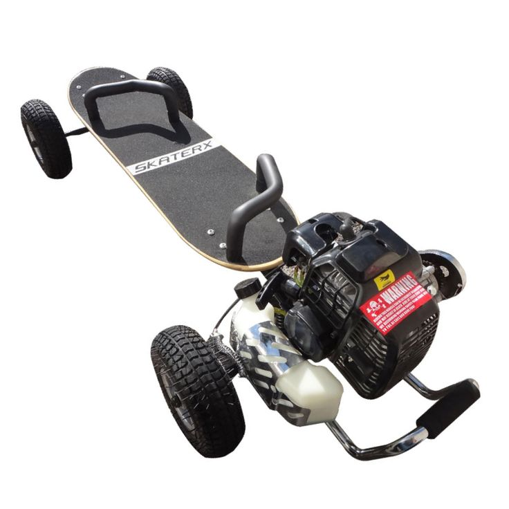 The SkaterX 49CC Gas powered Skateboard has been around since 2003 and reaches a…