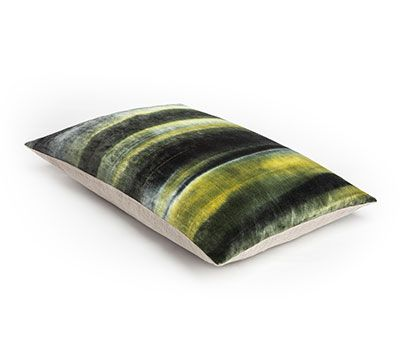 Mrs.Me home couture|tie-dyed velvet |Cushion Gradient Moss Ink