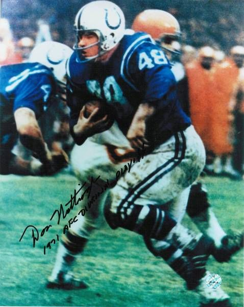 "Don Nottingham Baltimore Colts Autographed 8x10 Photo Inscribed """"1971 AFC Divisional Playoffs"""" -Running-"