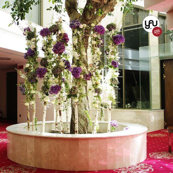 YaU events_YaU flori_ nunta la hotel international iasi_miscare in doi 2014_blue foresc_structure with blue hydrangea