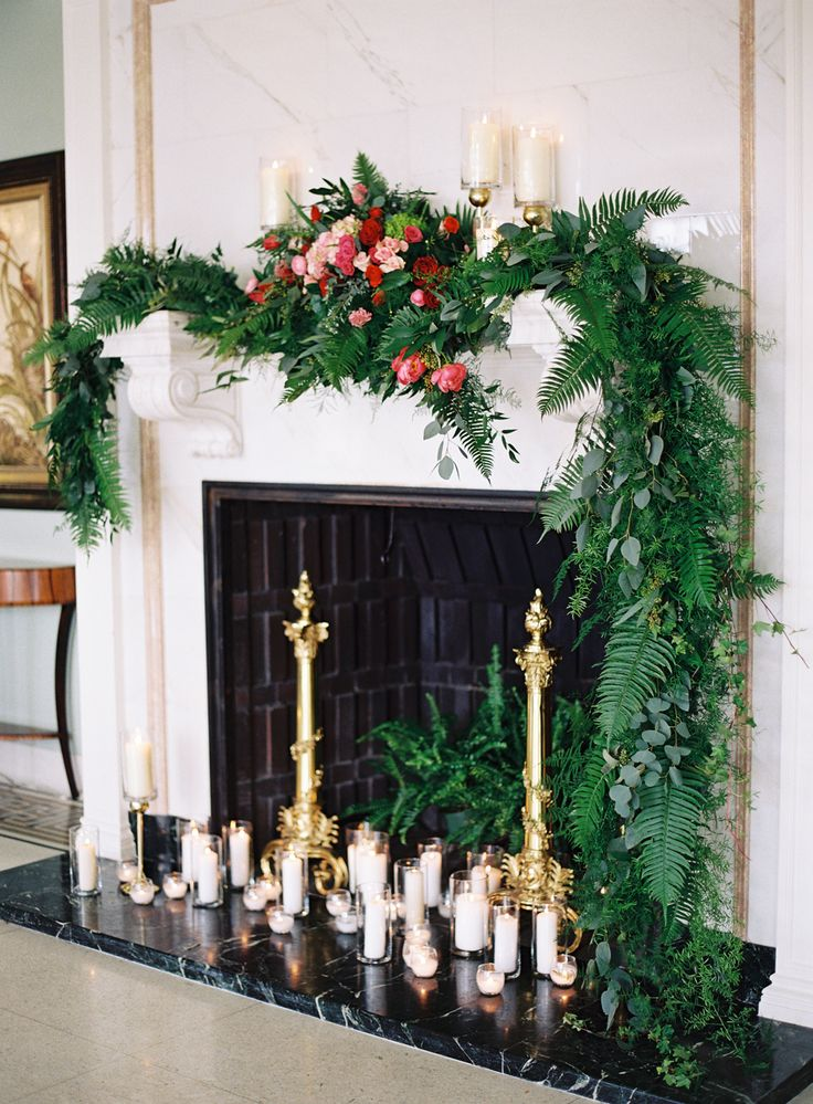 Fireplace with Pillar Candles | photography by http://www.carriekingphoto.com