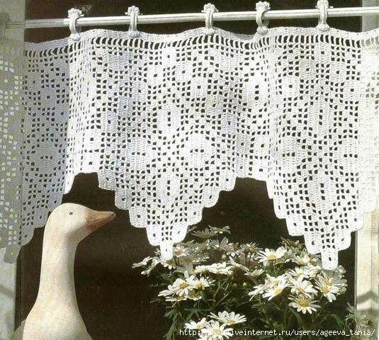 266 best images about cortinas e bandô para cortinas em crochê on ...