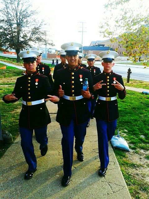 My son (in the middle) at his first Marine Corps Ball. 2012