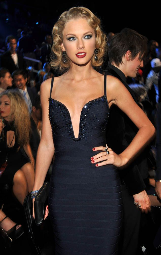 Taylor Swift in Herve Leger by Max Azria