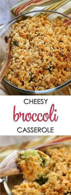 Mom's Easy Broccoli Casserole recipe is a family favorite. Made with broccoli, Velveeta cheese and Ritz crackers, this is always a crowd pleaser.