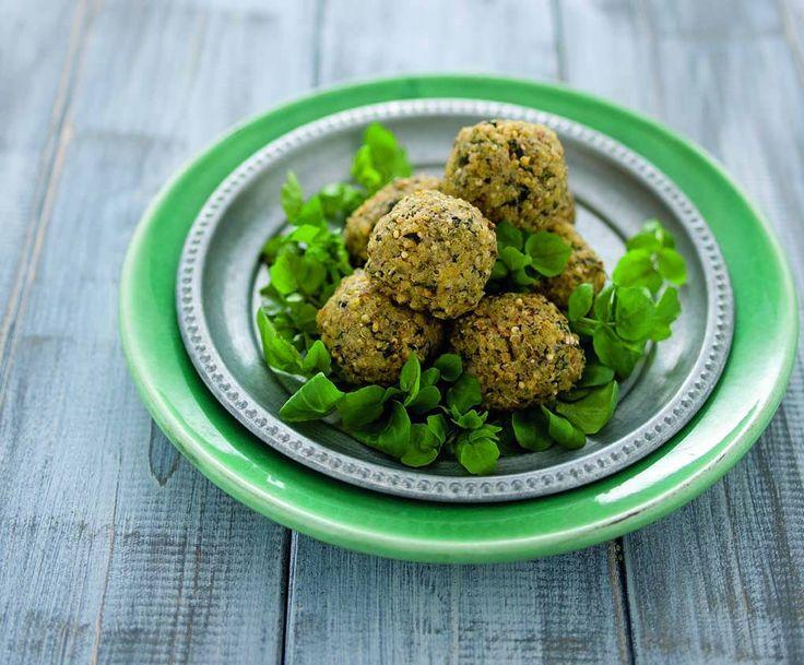 Crocchette dorate di miglio e quinoa