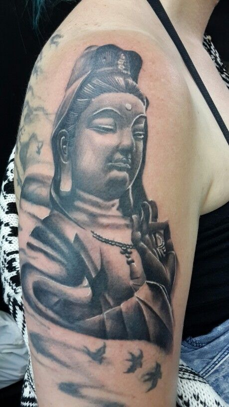 Buddha cover up done by Theunis Coetzee @Awhe Tattoos