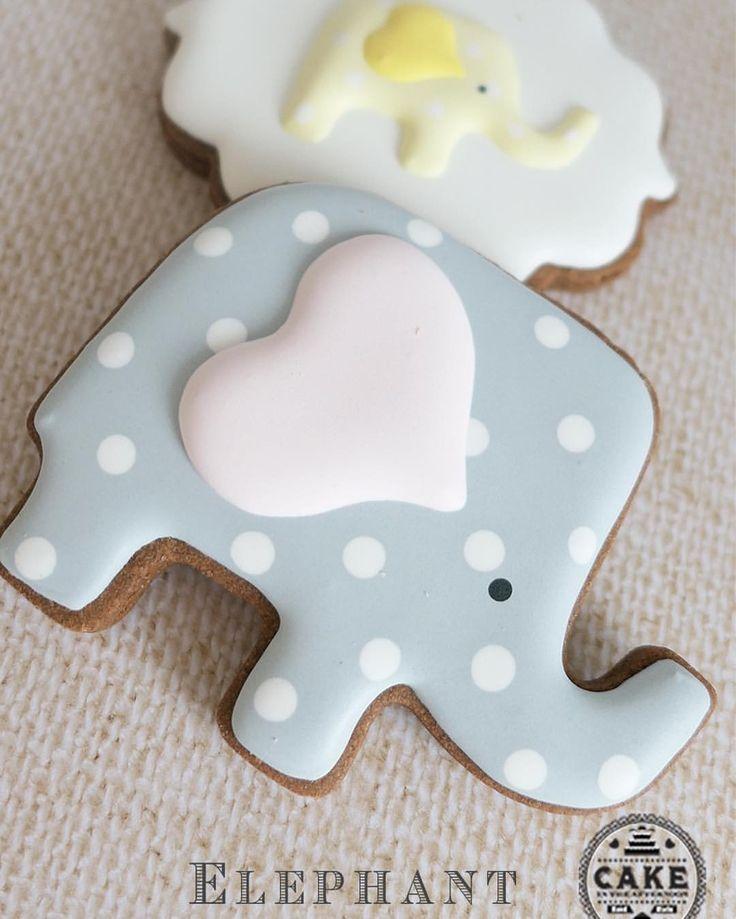 """129 """"Μου αρέσει!"""", 1 σχόλια - CookiesCakesMelbourneAustralia (@cakeintheafternoonmelbourne) στο Instagram: """"Elephant cookies to match the themed party last weekend - they are made to look gender neutral, but…"""""""
