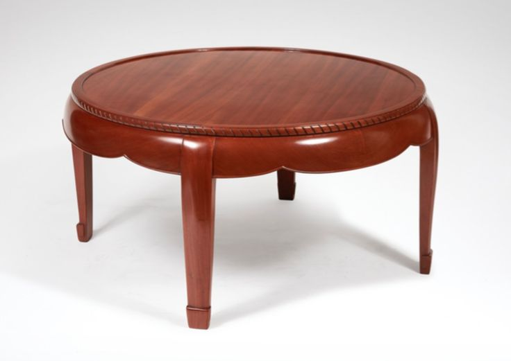 Coffee table by Süe et Mare, in mahogany, circa 1930