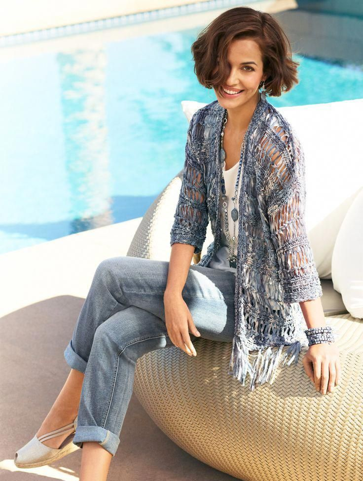Destination Fabulous  |  Fearless Fringe Lely Cardigan  **Love this look.  I'd wear it for travel. - #Cardigan #Chicos #Destination #Fabulous