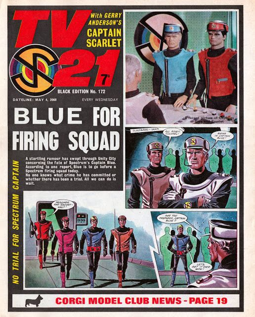 Captain Scarlet in TV21, by the great Mike Noble #bestofBritishComics