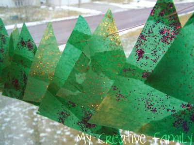 Creative Family Fun: Sparkly Christmas Tree Banner