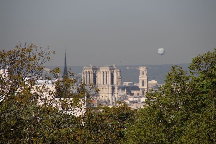 View from Cimetiere du Pere Lachaise...yep that is the air quality balloon raised