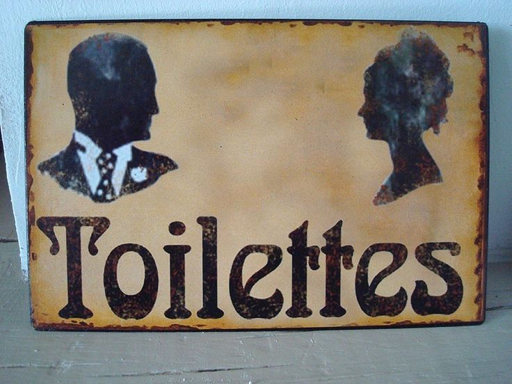 Plaque de porte toilettes aux silhouettes d co de Plaques de porte decoratives