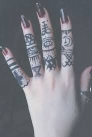 Image result for pastel goth tattoos. Something else to go with your beautiful fingers & nails? www.dizzyspinners.com