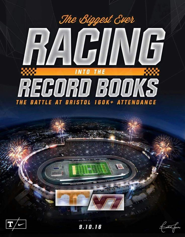 The biggest college football game ever! Tennessee Volunteers vs Virginia Tech in the Bristol Motor Speedway, Bristol Tennessee