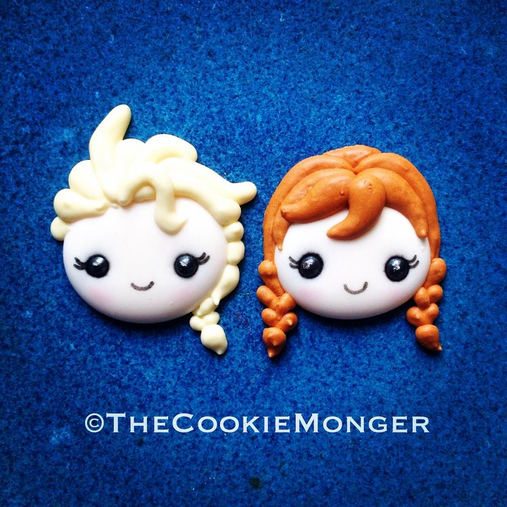 ©TheCookieMonger. Elsa and Anna--Frozen--Royal Icing Transfers