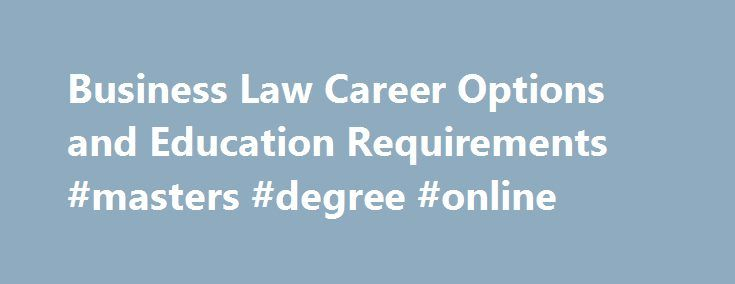 Master's degree options online
