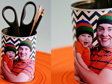 Recycle, Reuse, Rejoice! Turn every can into a captured (DIY!) moment. http://www.ivillage.com/best-fathers-day-gifts/6-a-537217