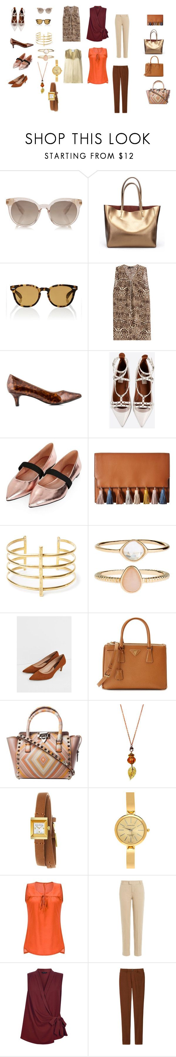"""""""I line coordinate"""" by tomominakamura48 on Polyvore featuring ファッション, Oliver Peoples, The Kooples, Hush Puppies, Valentino, Topshop, Rebecca Minkoff, BauXo, Accessorize と MANGO"""