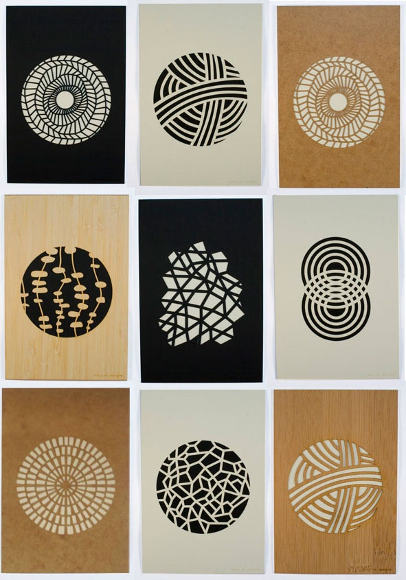 Beautiful laser cut prints by Molly M Design - The patterns' simplicity and…