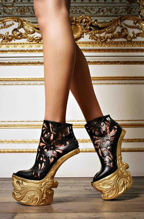 Highest Heels HottiePurple leopard size 13 5 1/12 heels