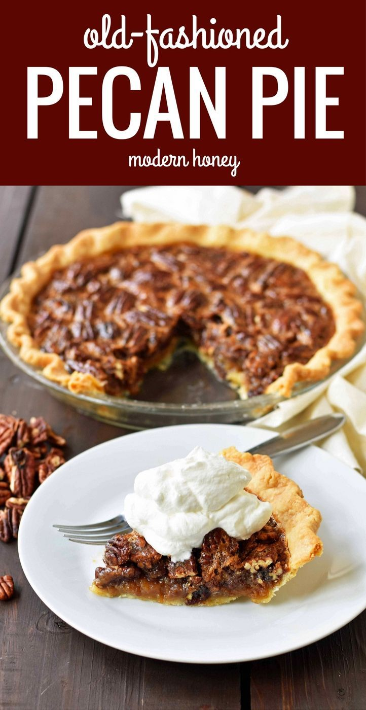Old Fashioned Pecan Pie Made With A Silky Smooth Brown Sugar