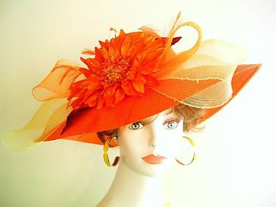 Orange Haute Couture Collection, hat