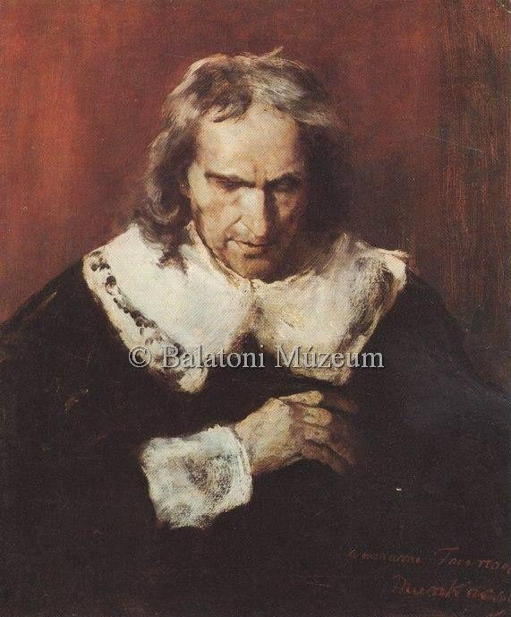 Munkácsy Mihály (1844-1900) - A vak Milton műveit diktálja leányainak - Tanulmány