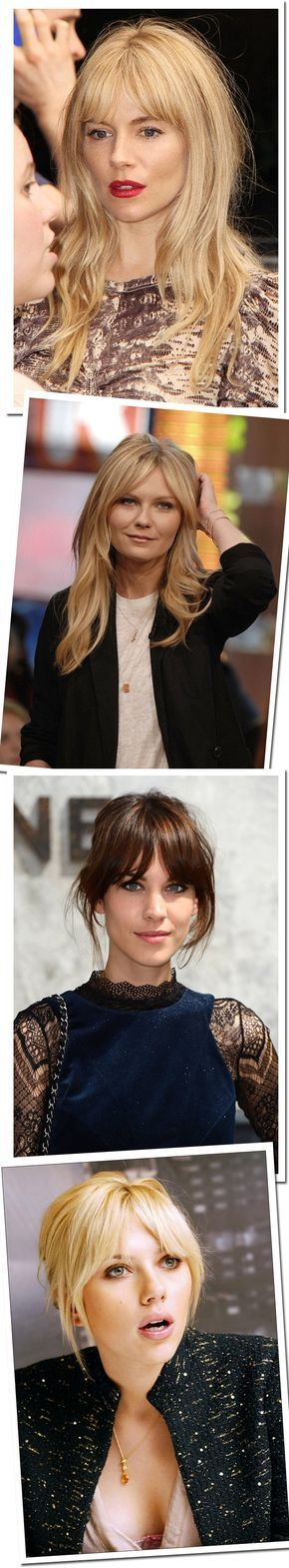 When my hair grows out, I'm going to rock som curtain bangs!