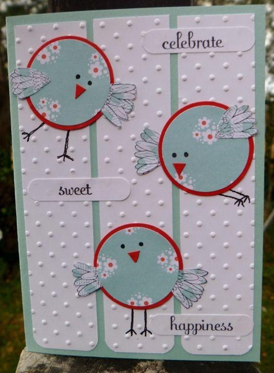 circle birds with flower petal wings... very cute