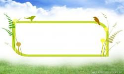 Animated clipart birds PPT Backgrounds
