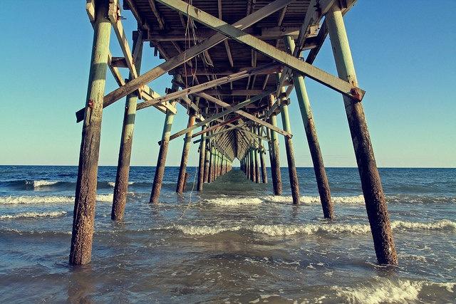 Oak Island Pier. Oak Island, Nc