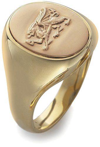 Clogau Gold - OSRD - Chevalière Homme - Or (9 carats) de Bicolore 13.